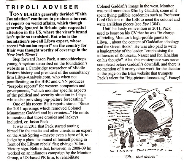 Tony Blair's Tripoli Adviser